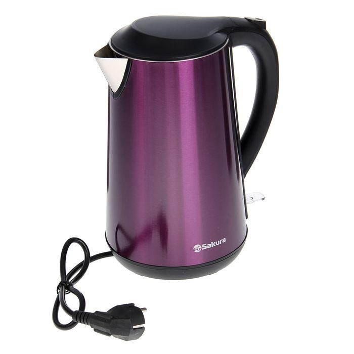 Чайник электрический Sakura SA-2140MP, 1800 Вт, 1.7 л, фиолетовый