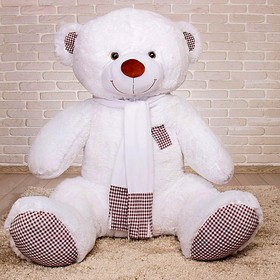 Мягкая игрушка «Медведь Тоффи», 150 см, цвет белый