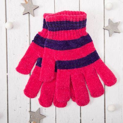 """Перчатки молодёжные """"Велюр"""", размер 16 (р-р произв. 8), цвет розовый 58971"""