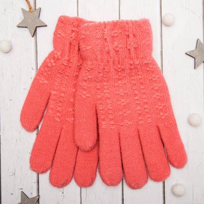 """Перчатки молодёжные """"Каприз"""", размер 20 (р-р произв. 10), цвет розовый 65580"""