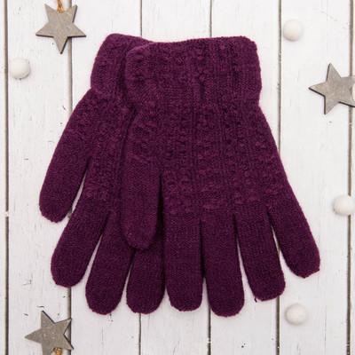 """Перчатки молодёжные """"Каприз"""", размер 20, цвет фиолетовый 65580"""