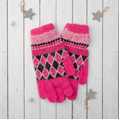 """Перчатки молодёжные """"Лилия"""", размер 20 (р-р произв. 10), цвет розовый 65526"""