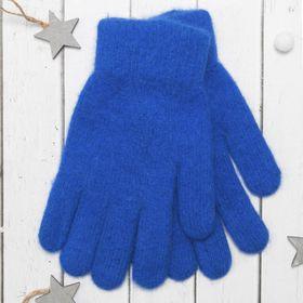 """Перчатки молодёжные """"Однотонные"""", размер 20, цвет синий 65486"""