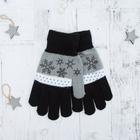 """Перчатки с шерстью молодёжные Collorista """"Зима"""", размер 21 (р-р произв. 10,5), цвет серый"""