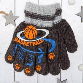 """Перчатки с шерстью детские Collorista """"Баскетбол"""", размер 14 (р-р произв. 7), цвет серый"""