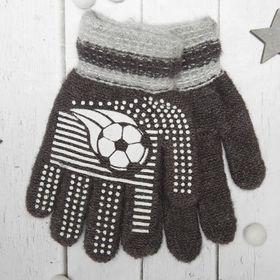 """Перчатки с шерстью детские Collorista """"Футбольный мяч"""", размер 16 (р-р произв. 8), цвет серый"""