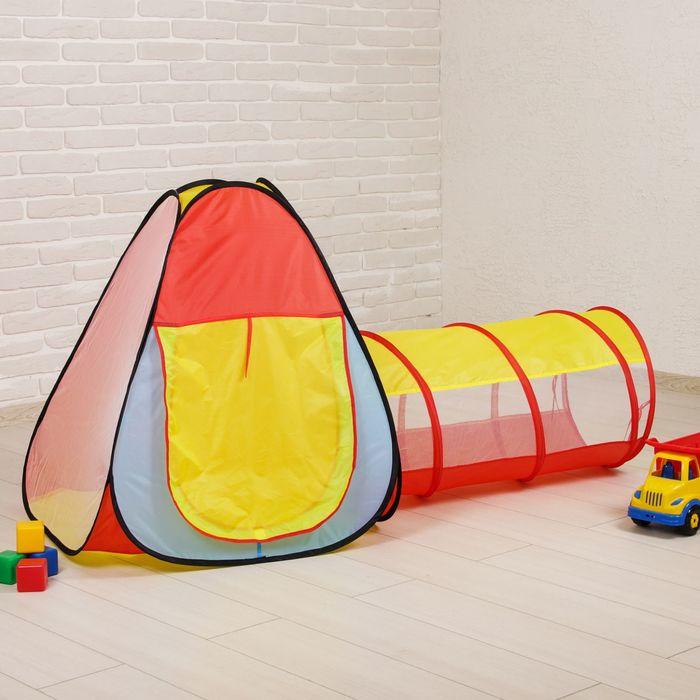 Палатка детская игровая с тоннелем, 5х44х44 см