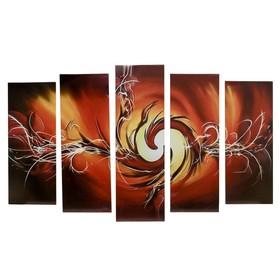 "Модульная картина на подрамнике ""Пламя""  2-25*63; 2-25*71; 1-25*80: 125х80"