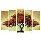"""Модульная картина на подрамнике """"Узоры на дереве"""""""