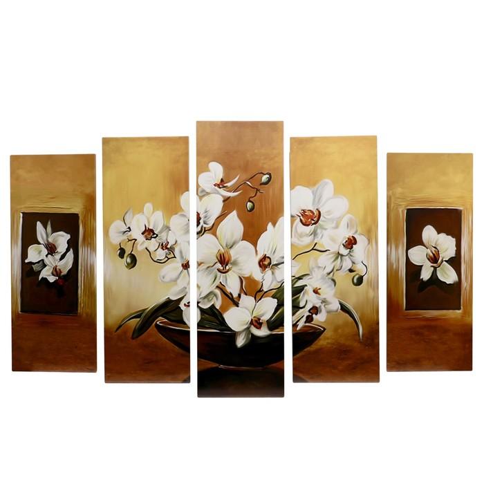"""Модульная картина на подрамнике """"Цветы в чаше"""""""