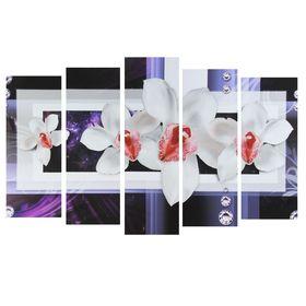 """Модульная картина на подрамнике """"Белые цветы"""""""