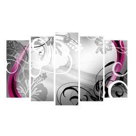 """Картина модульная на подрамнике """"Серые узоры""""  2-25*63; 2-25*71; 1-25*80: 125*80 см"""