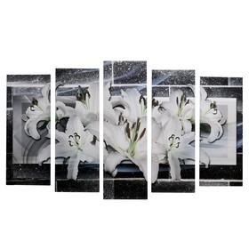 """Модульная картина на подрамнике """"Белые лилии"""", 125×80 см"""