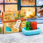 """Подарочный набор """"Найди свое счастье в Новом году!"""", косметическое мыло + мыльница"""