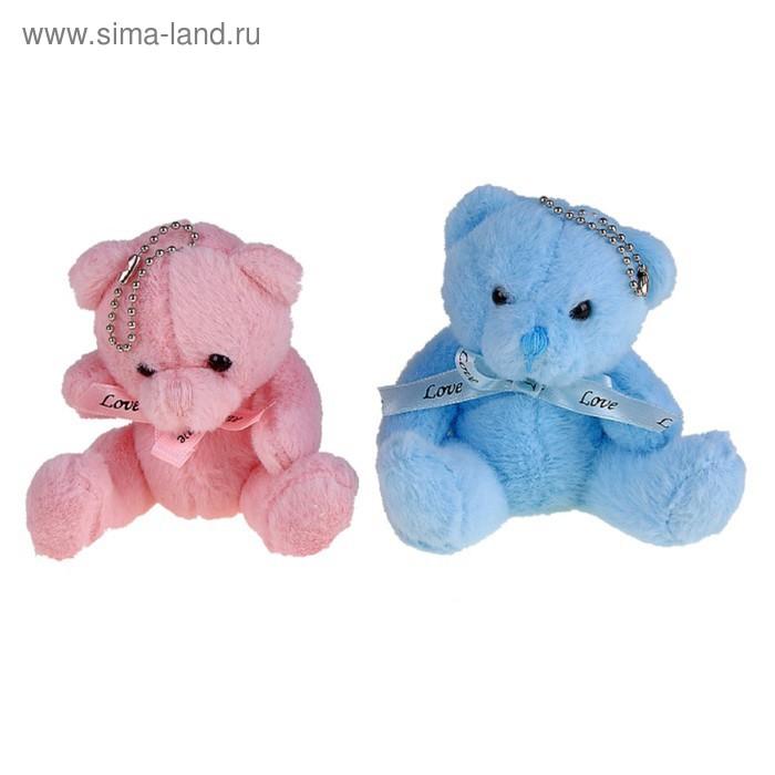 """Мягкая игрушка """"Мишка цветной"""" с бантиком, цвета МИКС"""