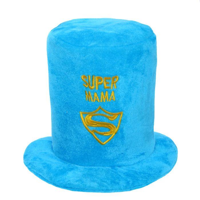 "Карнавальная шляпа ""Super мама"", р-р 56-58, цвета МИКС"
