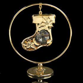 Сувенир «Сапожок», в кольце, 7×3×8 см, с кристаллом Сваровски
