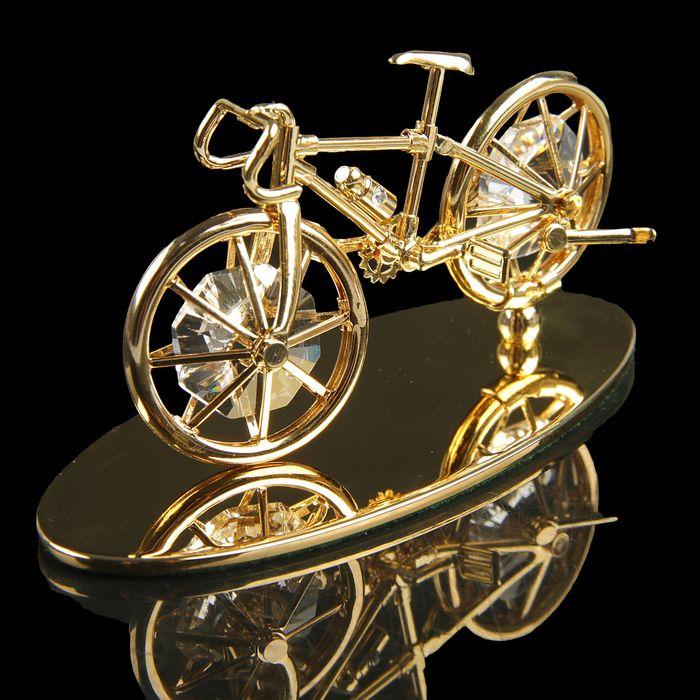 Сувенир «Велосипед», 4,5×10×4,5 см, с кристаллами Сваровски