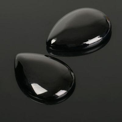 Кабошон капля 25*25мм (набор 2шт), под черный агат