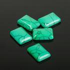 Кабошон прямоугольник 13*18мм (набор 5шт), под зеленую бирюзу