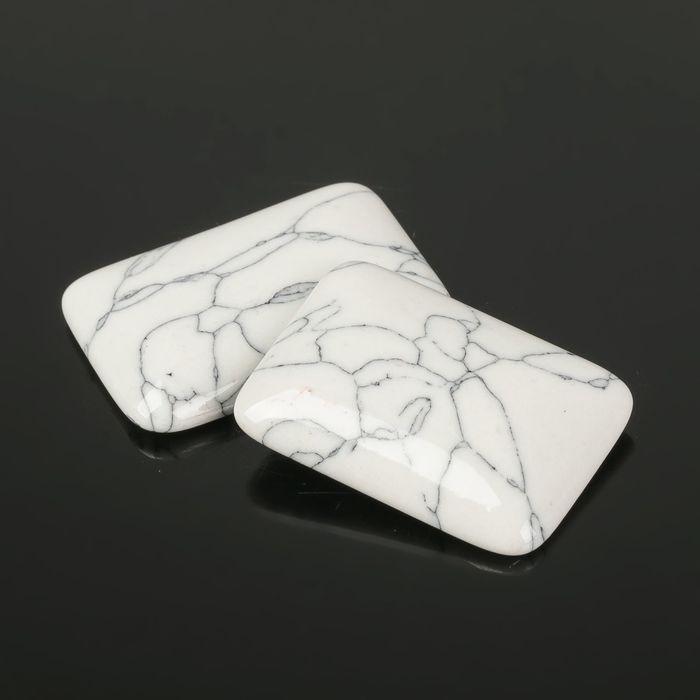 Кабошон прямоугольник 25*35мм (набор 2шт), под кахолонг - фото 698373