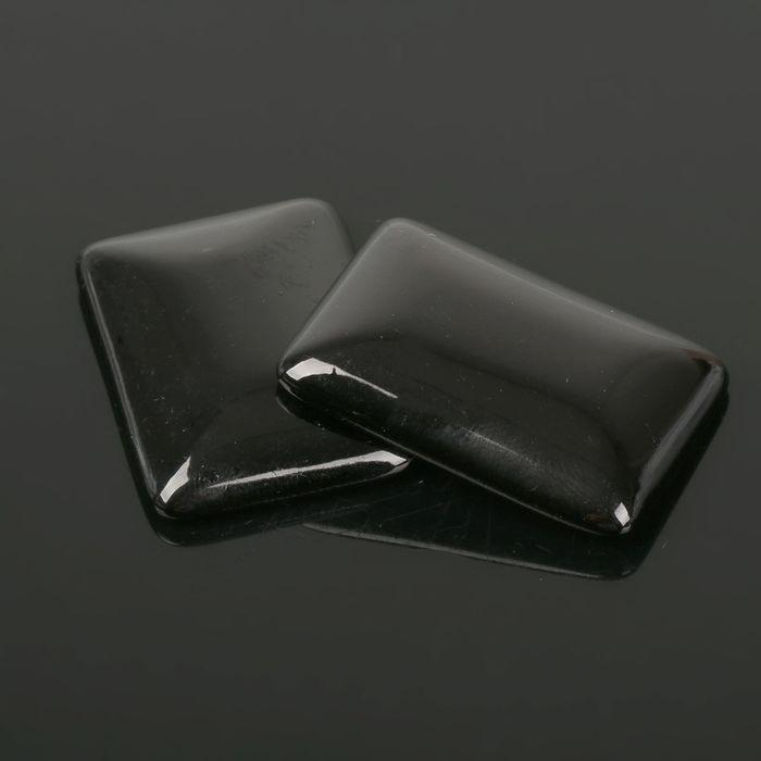 Кабошон прямоугольник 25*35мм (набор 2шт), под черный агат