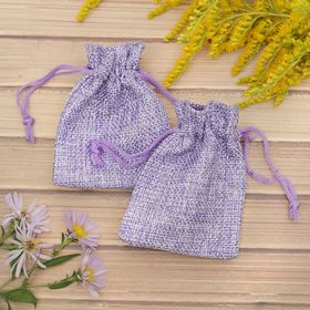 "Pouch gift ""Flax"" 7*9, color purple"