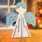 """Новогодняя ёлочная игрушка, Набор для создания подвески из фетра """"Ангел"""" + стразы"""