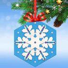 """Новогодняя ёлочная игрушка, Набор для создания подвески из фетра """"Снежинка"""" + стразы"""