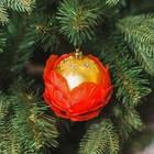 Новогодний ёлочный шар с лепестками, золотой