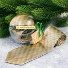 """Галстук в шаре с открыткой """"Дорогому дедушке в Новый год"""""""