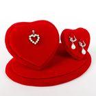 """Подставка под украшения """"Два сердца"""", 18*10,5*9, цвет красный"""
