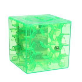 Головоломка «Лабиринт», с копилкой, цвет зелёный