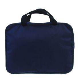 Папка с ручками текстильная, А4, 370 х 270 х 70 мм, Luris Офис, внутренний карман, синий