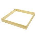 Песочница деревянная без крышки, 138 х 147 х 18 см, сосна
