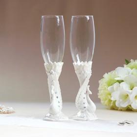 """Set wedding glasses """"Peacock"""" porcelain, 250 ml 18*28*9cm"""