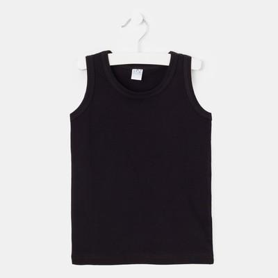 Майка для мальчика, рост 128-134 см (36), цвет чёрный