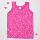 Майка для девочки, рост 146-152 см (42), цвет розовый 10824