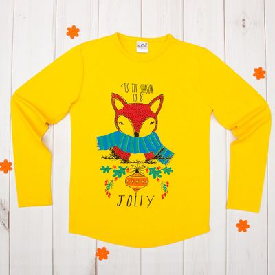 Джемпер для девочки, рост 146-152 см (42), цвет жёлтый