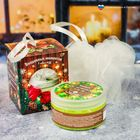 """Подарочный набор """"Волшебных моментов в Новом году!"""" скраб для тела с мочалкой, аромат олива"""