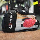 Сумка спортивная, отдел на молнии, наружный карман, регулируемый ремень, цвет чёрный/разноцветный