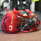 Сумка спортивная, отдел на молнии, наружный карман, регулируемый ремень, цвет красный