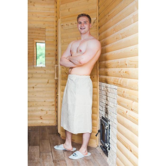 """Килт для бани и сауны """"Добропаровъ"""", 150х75 см, мужской, льняной"""
