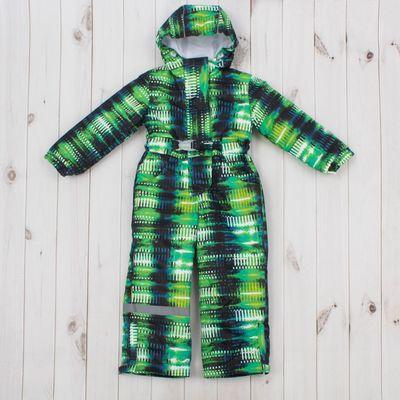 """Комбинезон для девочки """"КИТТИ"""", рост 128 см, цвет зелёный/чёрный Д 313"""