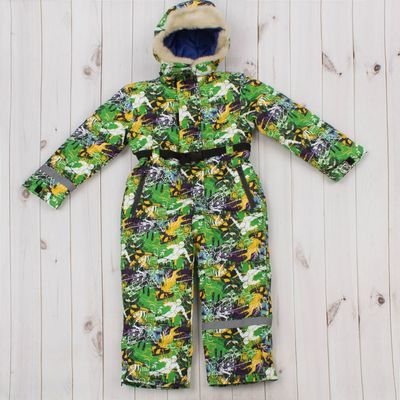 """Комбинезон для мальчика """"ТЕДДИ"""",  рост 110 см, цвет зеленый/белый Д 315"""