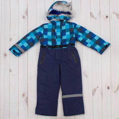 """Комбинезон для мальчика """"ТЕДДИ 2"""", рост 104, цвет синий/голубой/белый Д 316"""