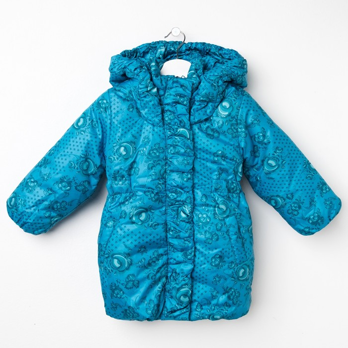 """Пальто для девочки """"Бабочка"""", рост 110 см, цвет голубой ДЗ-0032"""