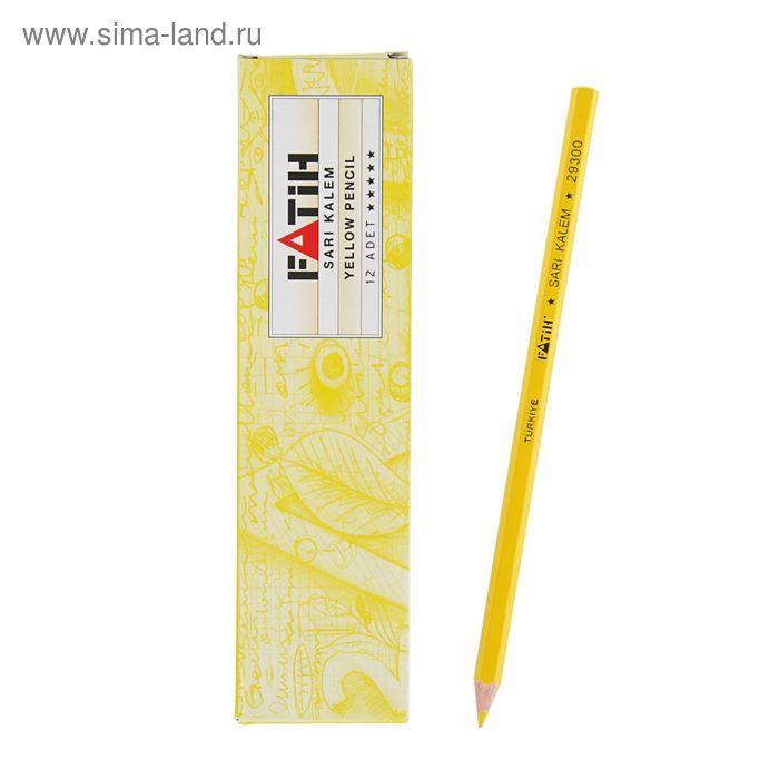 Карандаш специальный Fatih Портного НВ, жёлтый
