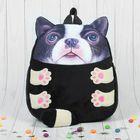 Мягкая игрушка-рюкзак «Серая собачка»