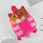 """Мягкая игрушка-рюкзак """"Рыжий котик"""""""